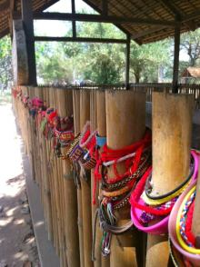 Photo actually from Cambodia but these types of bracelets are everywhere